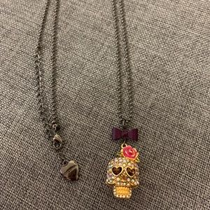 Betsey Johnson Day Of The Dead Skull Necklace